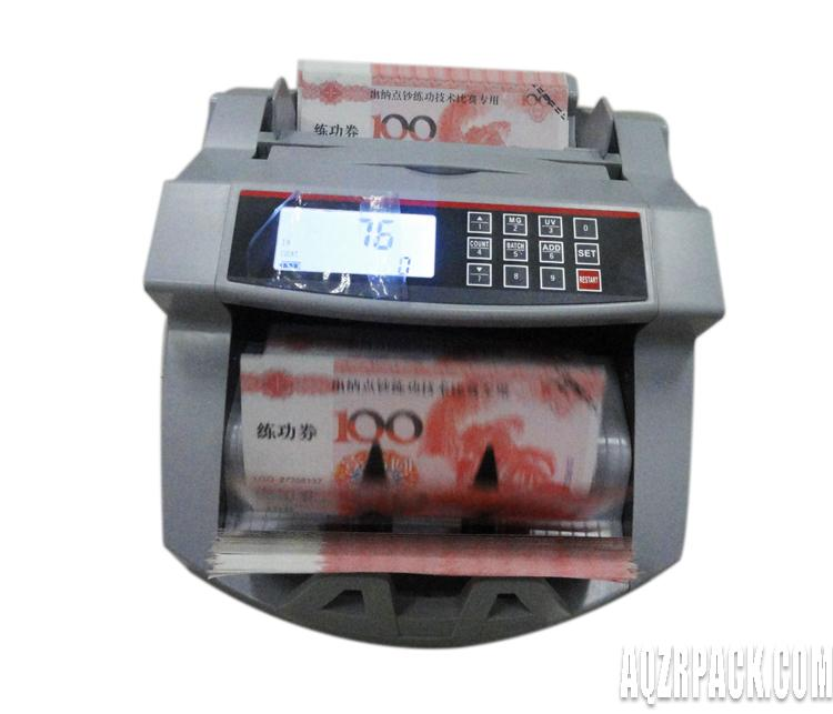 Battery within machine portable money counting machine