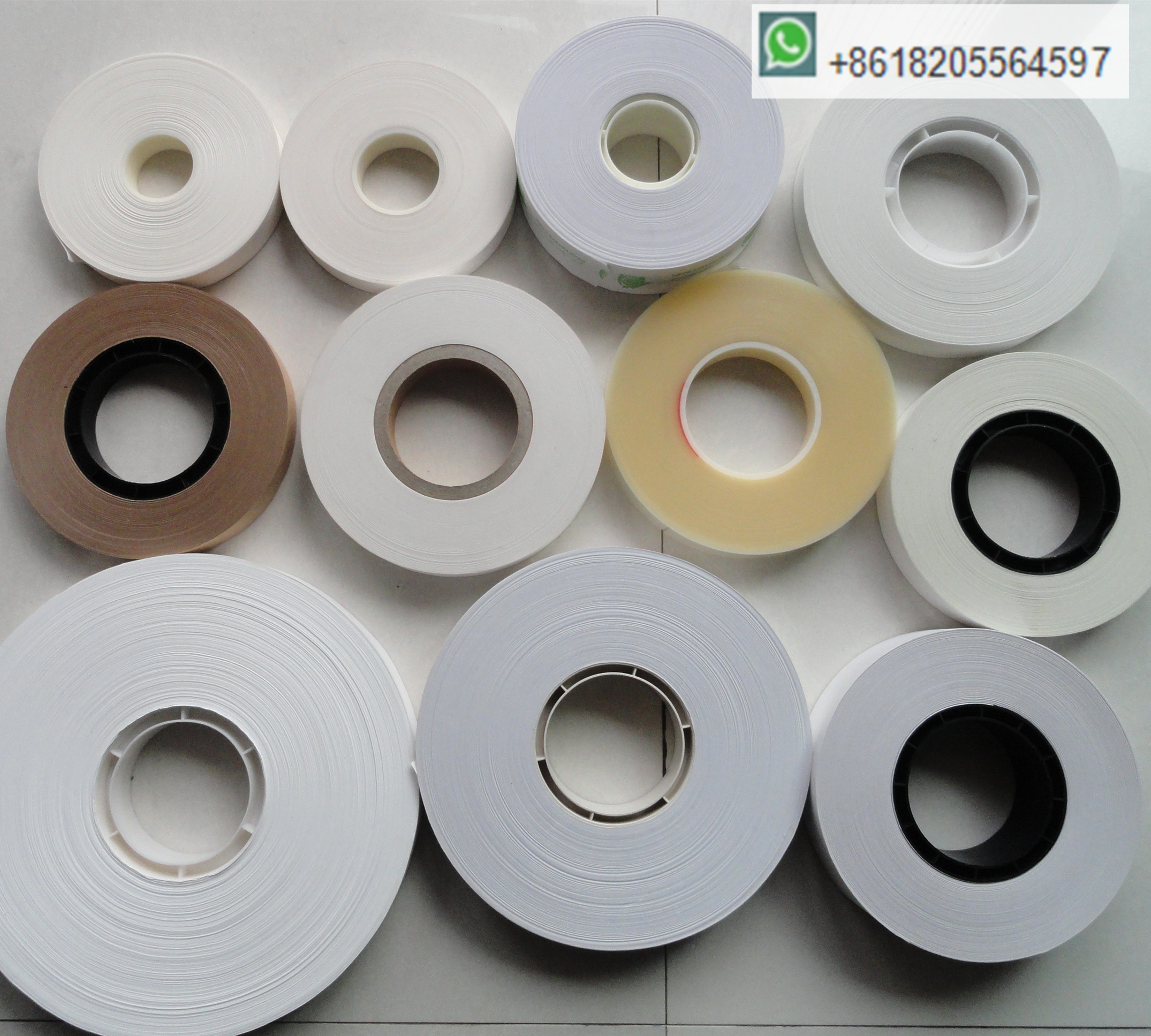 30mm width high temp heat sealing paper strap tape roll for money